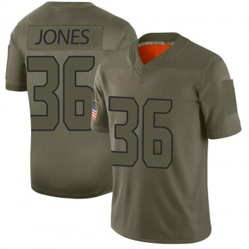 Youth Nike Seattle Seahawks Anthony Jones Camo 2019 Salute to Service Jersey - Limited