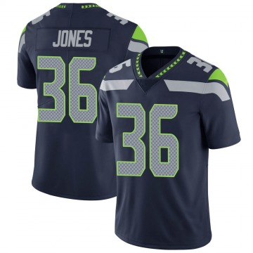 Youth Nike Seattle Seahawks Anthony Jones Navy Team Color Vapor Untouchable Jersey - Limited