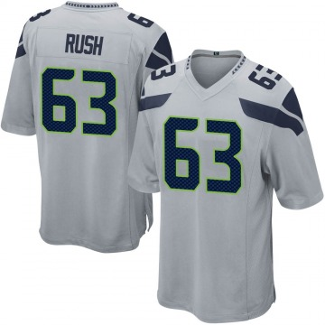 Youth Nike Seattle Seahawks Anthony Rush Gray Alternate Jersey - Game