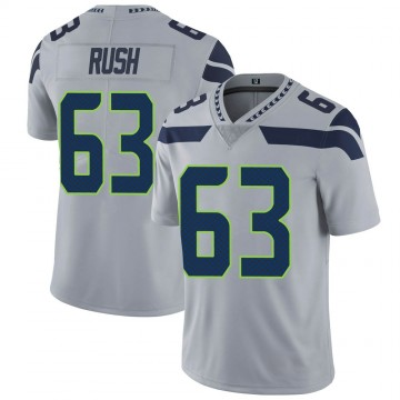 Youth Nike Seattle Seahawks Anthony Rush Gray Alternate Vapor Untouchable Jersey - Limited