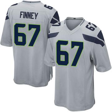 Youth Nike Seattle Seahawks B.J. Finney Gray Alternate Jersey - Game