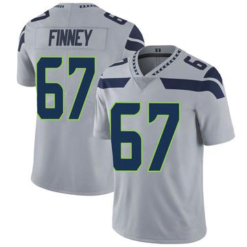 Youth Nike Seattle Seahawks B.J. Finney Gray Alternate Vapor Untouchable Jersey - Limited