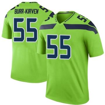 Youth Nike Seattle Seahawks Ben Burr-Kirven Green Color Rush Neon Jersey - Legend
