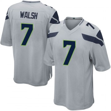 Youth Nike Seattle Seahawks Blair Walsh Gray Alternate Jersey - Game