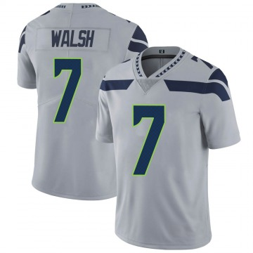 Youth Nike Seattle Seahawks Blair Walsh Gray Alternate Vapor Untouchable Jersey - Limited