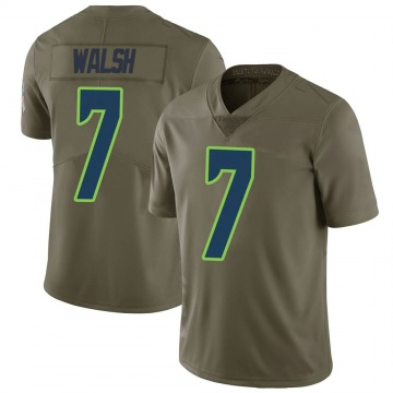 Youth Nike Seattle Seahawks Blair Walsh Green 2017 Salute to Service Jersey - Limited