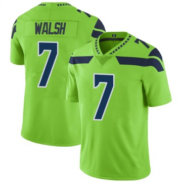 Youth Nike Seattle Seahawks Blair Walsh Green Color Rush Neon Jersey - Limited