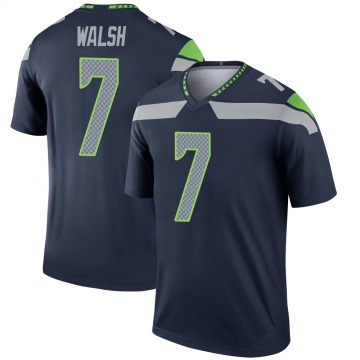 Youth Nike Seattle Seahawks Blair Walsh Navy Jersey - Legend