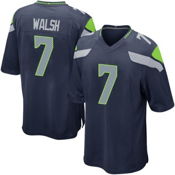 Youth Nike Seattle Seahawks Blair Walsh Navy Team Color Jersey - Game