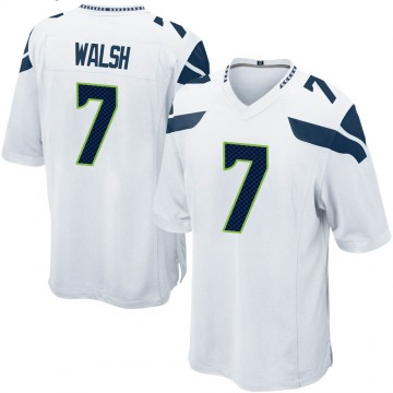Youth Nike Seattle Seahawks Blair Walsh White Jersey - Game