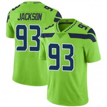 Youth Nike Seattle Seahawks Branden Jackson Green Color Rush Neon Jersey - Limited