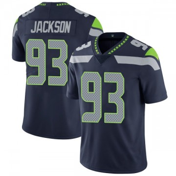Youth Nike Seattle Seahawks Branden Jackson Navy Team Color Vapor Untouchable Jersey - Limited