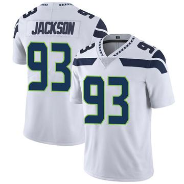 Youth Nike Seattle Seahawks Branden Jackson White Vapor Untouchable Jersey - Limited