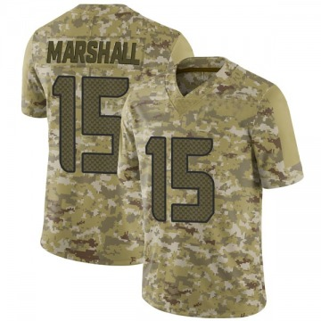 Youth Nike Seattle Seahawks Brandon Marshall Camo 2018 Salute to Service Jersey - Limited