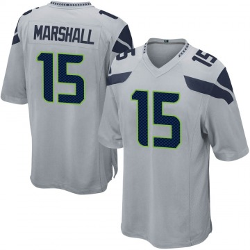 Youth Nike Seattle Seahawks Brandon Marshall Gray Alternate Jersey - Game