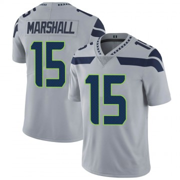 Youth Nike Seattle Seahawks Brandon Marshall Gray Alternate Vapor Untouchable Jersey - Limited