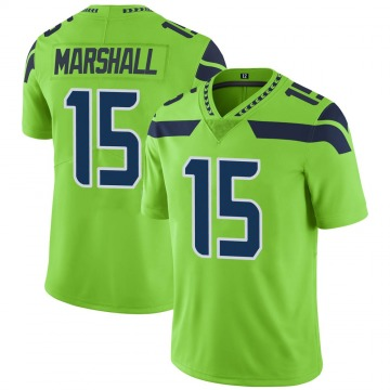 Youth Nike Seattle Seahawks Brandon Marshall Green Color Rush Neon Jersey - Limited