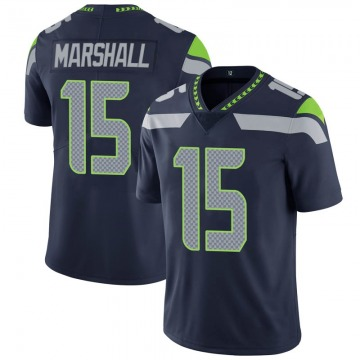 Youth Nike Seattle Seahawks Brandon Marshall Navy 100th Vapor Jersey - Limited