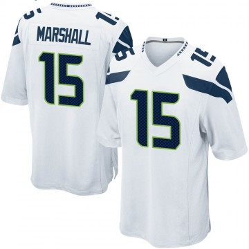 Youth Nike Seattle Seahawks Brandon Marshall White Jersey - Game