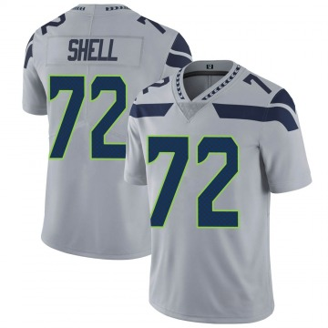 Youth Nike Seattle Seahawks Brandon Shell Gray Alternate Vapor Untouchable Jersey - Limited