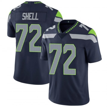 Youth Nike Seattle Seahawks Brandon Shell Navy Team Color Vapor Untouchable Jersey - Limited