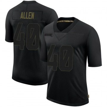 Youth Nike Seattle Seahawks Brian Allen Black 2020 Salute To Service Jersey - Limited