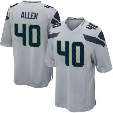 Youth Nike Seattle Seahawks Brian Allen Gray Alternate Jersey - Game