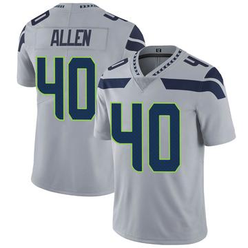 Youth Nike Seattle Seahawks Brian Allen Gray Alternate Vapor Untouchable Jersey - Limited