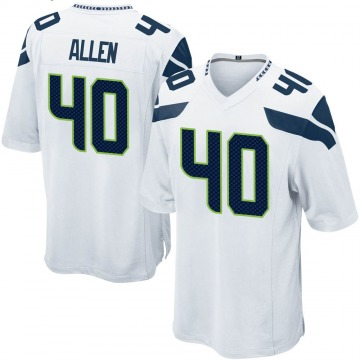 Youth Nike Seattle Seahawks Brian Allen White Jersey - Game