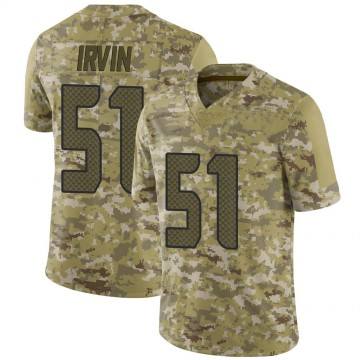 Youth Nike Seattle Seahawks Bruce Irvin Camo 2018 Salute to Service Jersey - Limited