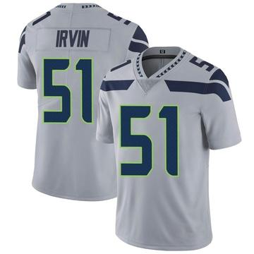 Youth Nike Seattle Seahawks Bruce Irvin Gray Alternate Vapor Untouchable Jersey - Limited