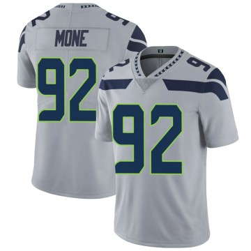 Youth Nike Seattle Seahawks Bryan Mone Gray Alternate Vapor Untouchable Jersey - Limited