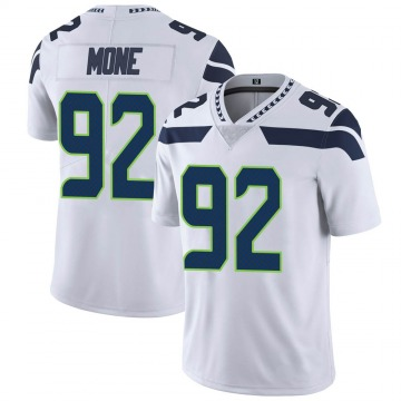 Youth Nike Seattle Seahawks Bryan Mone White Vapor Untouchable Jersey - Limited
