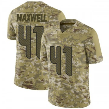 Youth Nike Seattle Seahawks Byron Maxwell Camo 2018 Salute to Service Jersey - Limited