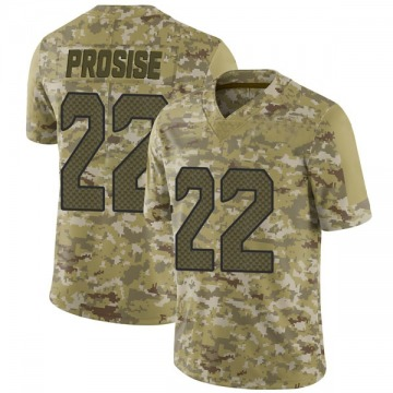 Youth Nike Seattle Seahawks C.J. Prosise Camo 2018 Salute to Service Jersey - Limited