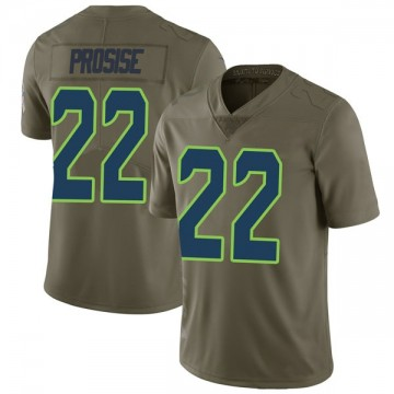 Youth Nike Seattle Seahawks C.J. Prosise Green 2017 Salute to Service Jersey - Limited