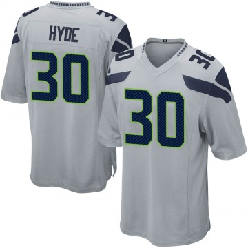 Youth Nike Seattle Seahawks Carlos Hyde Gray Alternate Jersey - Game