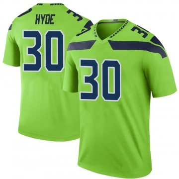 Youth Nike Seattle Seahawks Carlos Hyde Green Color Rush Neon Jersey - Legend