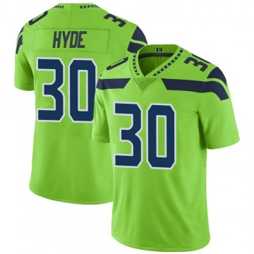 Youth Nike Seattle Seahawks Carlos Hyde Green Color Rush Neon Jersey - Limited