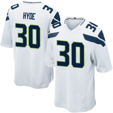 Youth Nike Seattle Seahawks Carlos Hyde White Jersey - Game
