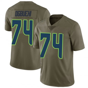 Youth Nike Seattle Seahawks Cedric Ogbuehi Green 2017 Salute to Service Jersey - Limited