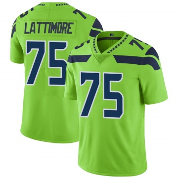 Youth Nike Seattle Seahawks Cedrick Lattimore Green Color Rush Neon Jersey - Limited