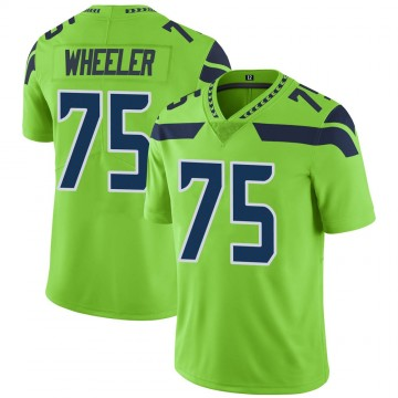 Youth Nike Seattle Seahawks Chad Wheeler Green Color Rush Neon Jersey - Limited