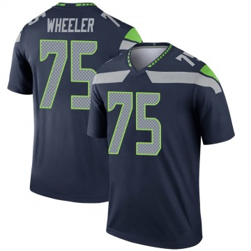 Youth Nike Seattle Seahawks Chad Wheeler Navy Jersey - Legend