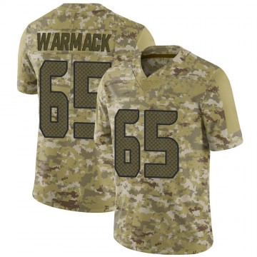 Youth Nike Seattle Seahawks Chance Warmack Camo 2018 Salute to Service Jersey - Limited