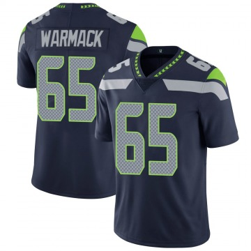 Youth Nike Seattle Seahawks Chance Warmack Navy 100th Vapor Jersey - Limited
