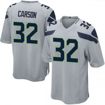 Youth Nike Seattle Seahawks Chris Carson Gray Alternate Jersey - Game
