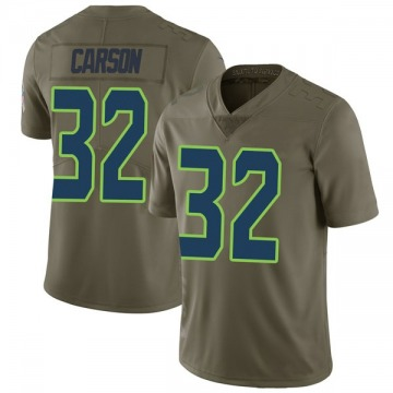 Youth Nike Seattle Seahawks Chris Carson Green 2017 Salute to Service Jersey - Limited