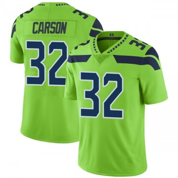 Youth Nike Seattle Seahawks Chris Carson Green Color Rush Neon Jersey - Limited