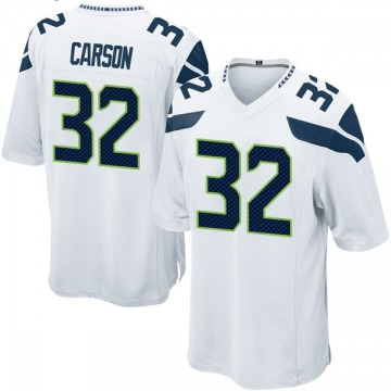 Youth Nike Seattle Seahawks Chris Carson White Jersey - Game